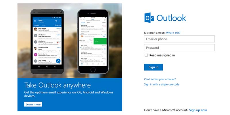how to create a hotmail email